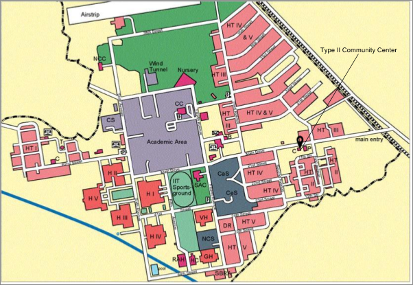 iit kanpur campus map How To Reach Iit Kanpur Teaching And Learning Center iit kanpur campus map